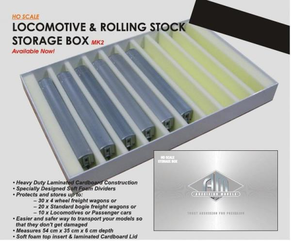 AUSCISION SILVER STORAGE BOXES FOR HO SCALE
