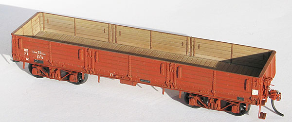 STEAM ERA VICTORIAN RAILWAYS QR BOGIE OPEN WAGON