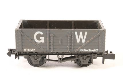 PECO NR-41W 10ft 7 Plank Coal Wagon GW Dark Grey