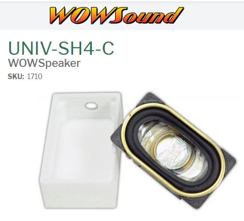 TCS 1710  UNIV-SH4-C WOWSpeaker with HOUSING